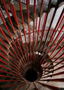 Winding steel staircase Royalty Free Stock Images
