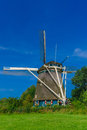 Windmill in Amsterdam, Holland, Netherlands Royalty Free Stock Photo