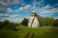 Russian Wooden Windmill Royalty Free Stock Photo