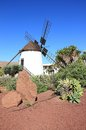Windmill of antigua molino de antigua fuerteventura canary islands spain spanish meaning ancient is a canarian municipality in the Stock Photo