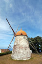 Windmill in azores san miguel portugal Royalty Free Stock Image