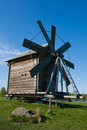 Windmill. Beautiful Kizhi island Royalty Free Stock Images