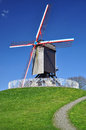 Windmill in Bruges, Belgium Royalty Free Stock Photo