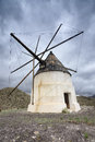 Windmill in Cabo de Gata Royalty Free Stock Photo