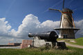 Windmill And Cannon