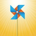 Windmill colorful illustration with on sun background for your design Royalty Free Stock Photography