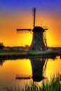 Windmill colors Royalty Free Stock Photo