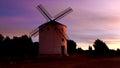 Windmill colors at dawn Royalty Free Stock Photo