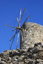 Windmill in Crete Stock Images