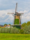 Windmill in the Dutch village of Terheijden Stock Image