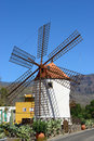 Windmill el molino de mogan historical in gran canaria spain Royalty Free Stock Photos