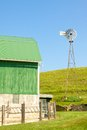 Windmill and Farmyard Royalty Free Stock Photo