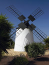 Windmill - Fuerteventura - Canary Islands Royalty Free Stock Images