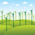 Windmill or green energy source background
