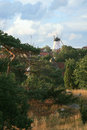Windmill in Gudhjem, Bornholm, Denmark Royalty Free Stock Images