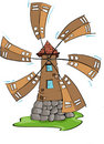 Windmill, hand draw Royalty Free Stock Images