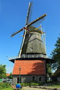 Windmill in harderwijk the historic netherlands Stock Images