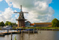 Windmill in Holland Royalty Free Stock Photo