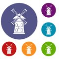 Windmill icons set
