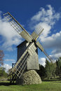 Windmill on island Saaremaa. Stock Photos