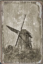 Windmill in Kinderdijk, Stock Image