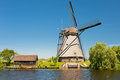 Windmill at Kinderdijk in May Stock Photos