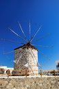 Windmill in Kos Royalty Free Stock Images