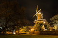 Windmill in Leiden Stock Photos