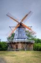 Windmill in malmoe in sweden Royalty Free Stock Images