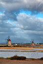 Windmill at Marsala Royalty Free Stock Photos