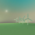 Windmill morning color Royalty Free Stock Image