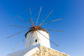 Windmill of mykonos island greece old traditional in Stock Photography