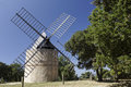 Windmill near ramatuelle southern france jean baptiste paillas th century cote d azur provence Royalty Free Stock Images