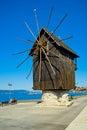 Windmill in Nesebar, Bulgaria Royalty Free Stock Photo