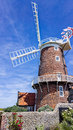 Windmill in norfolk england historic old cley near sheringham Royalty Free Stock Images