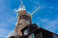 Windmill in norfolk england historic old cley near sheringham Stock Photo