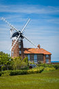 Windmill in norfolk england historic old weybourne Stock Image
