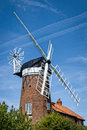 Windmill in norfolk england historic old weybourne Stock Photo