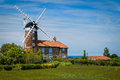 Windmill in Norfolk, England Royalty Free Stock Photo