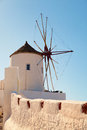 Windmill in Oia, Santorini Royalty Free Stock Photo