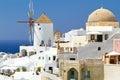 Windmill of Oia village on Santorini Royalty Free Stock Photo