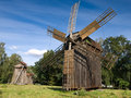 Windmill in Pereyaslav Stock Photo
