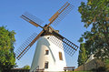 Windmill,Podersdorf,Lake Neusiedl Royalty Free Stock Photo