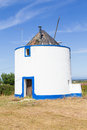 Windmill in Porto Covo Royalty Free Stock Photo