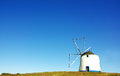 Windmill at portuguese field Stock Image