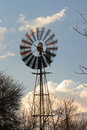 Windmill rotating on game farm Stock Photos