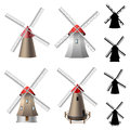 Windmill set Royalty Free Stock Photo