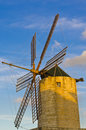 Windmill a in a small town in malta Royalty Free Stock Photo