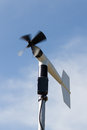 Windmill style of anemometer such weather monitoring Stock Images