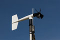 Windmill style of anemometer such weather monitoring Royalty Free Stock Image